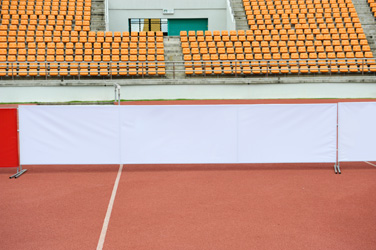 sports stadium advertising - sideline poster ads